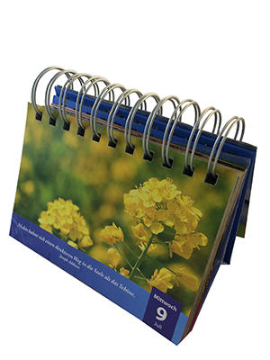 customized in all shapes and styles of small fresh desk calendar