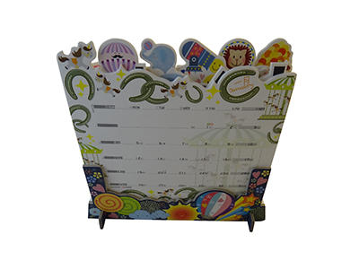 Custom reversible folding desk calendar