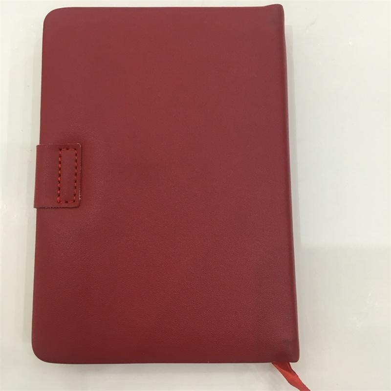 Custom High Quality Leather Hard Cover Notebook With Elastic Band a5 pu organizer