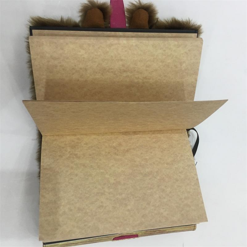 A5 notebook with special fur cover