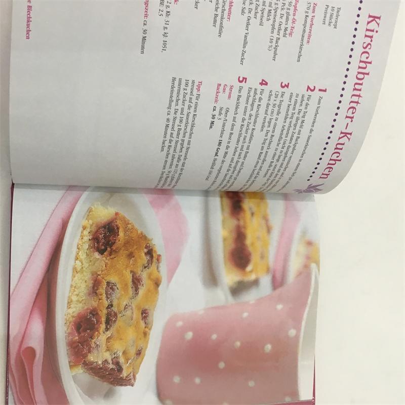 full color custom printed cook book
