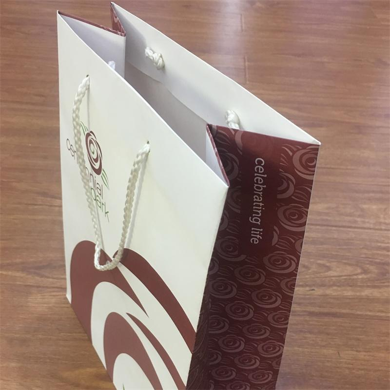 custom white kraft paper bag with your own logo