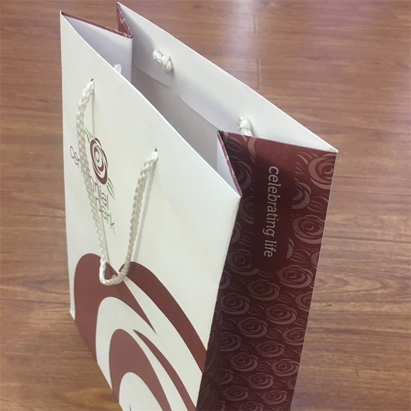 product-Guangjin -custom white kraft paper bag with your own logo-img