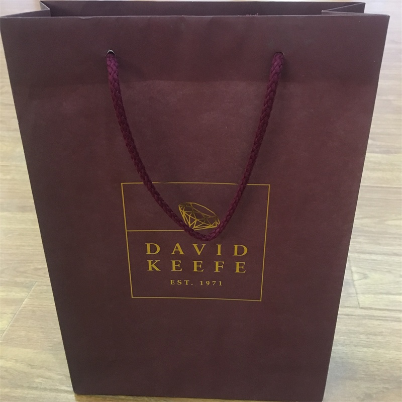 product-Eco friendly custom printed foil shopping gift paper bag with logo print-Guangjin -img
