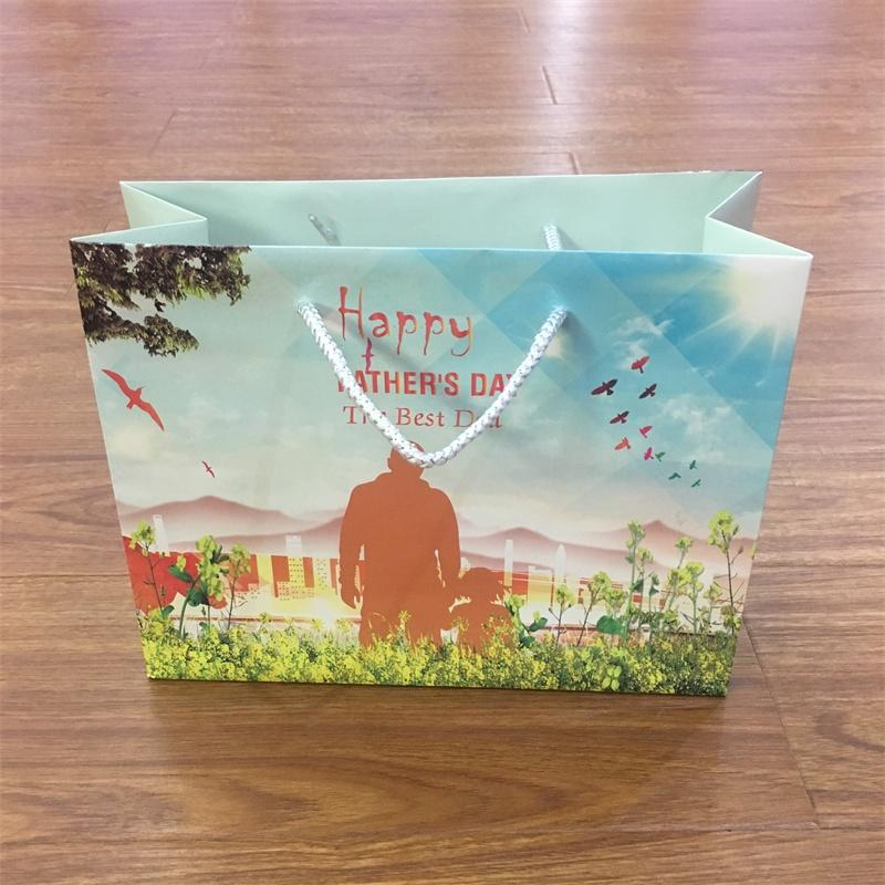 China Supplier Custom Gift Paper Bags With PP Handle