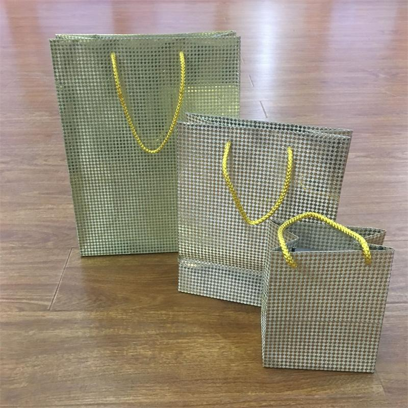 Glitter Paper Special Paper Bag for gift Packaging with PP handle
