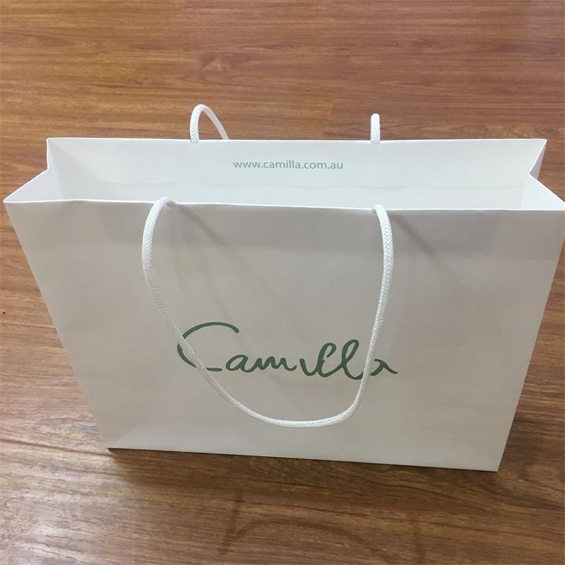 High quality white kraft paper bag wth new style paper handle