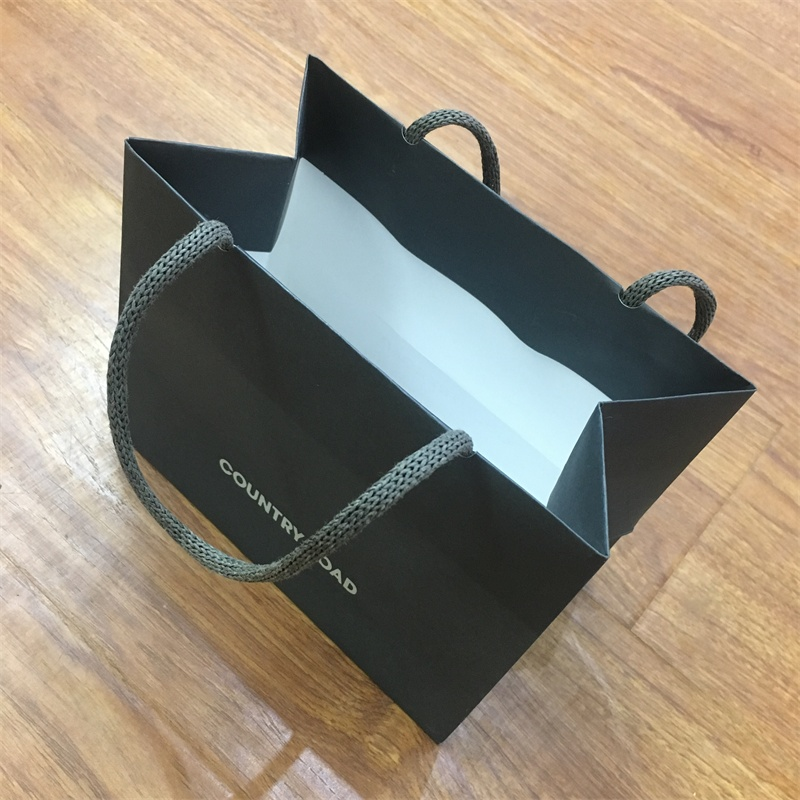 product-Guangjin -Factory Wholesale New Design Clothes Shopping Paper Bag Custom Print Paper Handle-