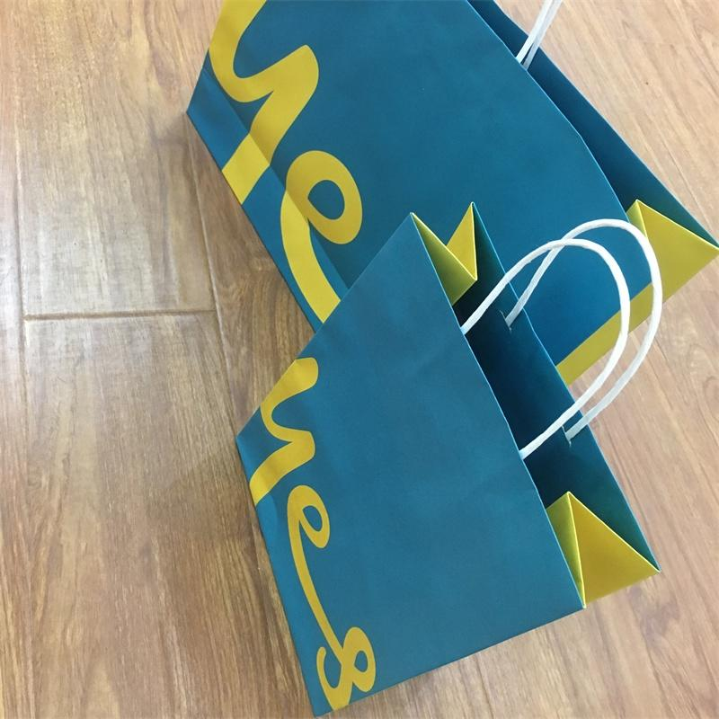 FSC CERTIFICATED CUSTOM KRAFT PAPER BAG FOR CLOTHES PACKAGING WITH LOGO PRINTED