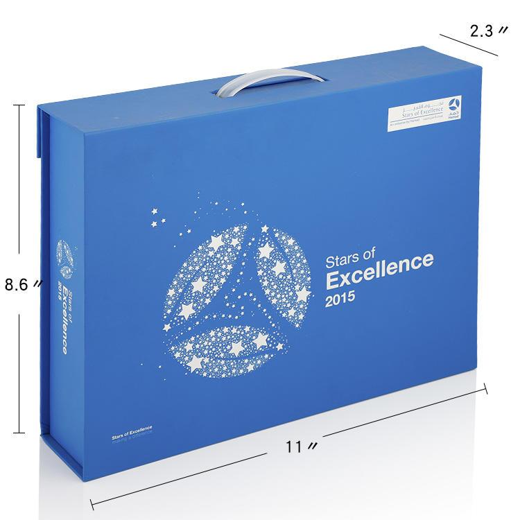 Folding paper box blue gift boxes wholesale factory