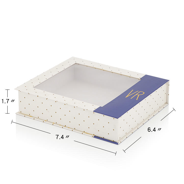 White Foldable Paper Box with Pvc Window Wholesale
